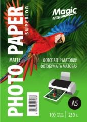 Фотобумага Magic A5 Inkjet Matte Paper 230g (100лис.)